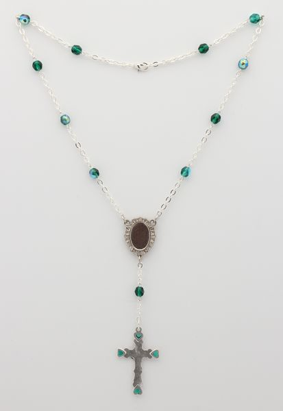 PHOTOGRAPHIC MYSTERY CRYSTAL NECKLACE 6MM EMERALD GREEN