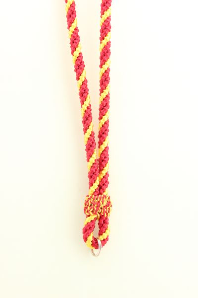MEDAL CHORD WITH THREE STRANDS 2 RED, 1 YELLOW