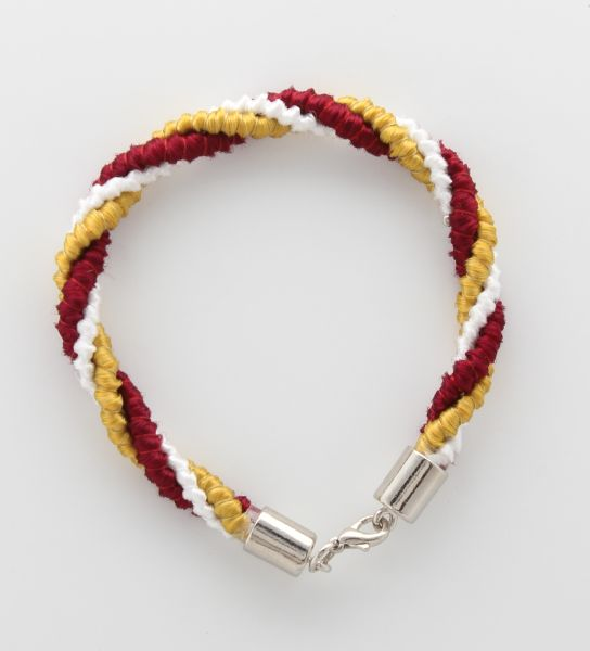 BRACELET CORD THREE STRANDS 1 YELLOW, 1 RED, 1 WHITE