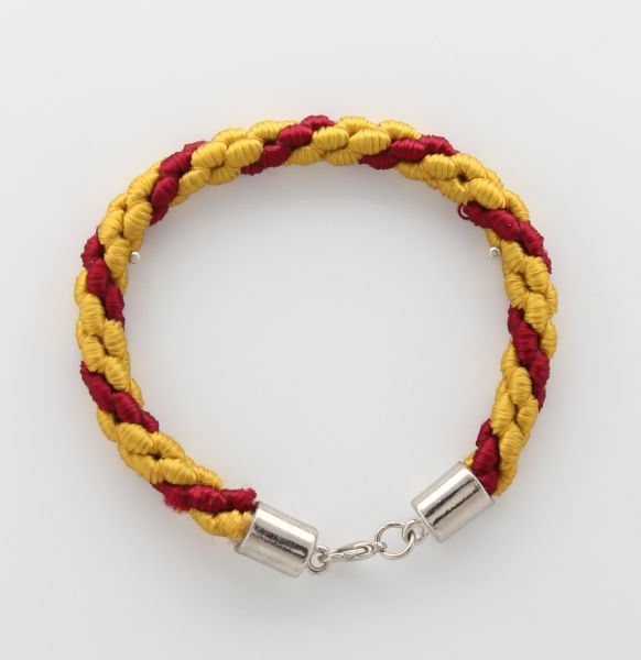 BRACELET CORD THREE STRANDS 2 YELLOW, 1 RED