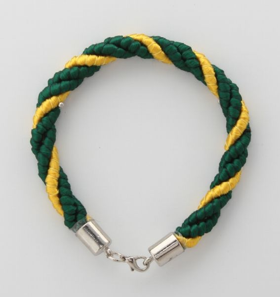 BRACELET CORD THREE STRANDS 2 ANDALUSIA GREEN, 1 YELLOW