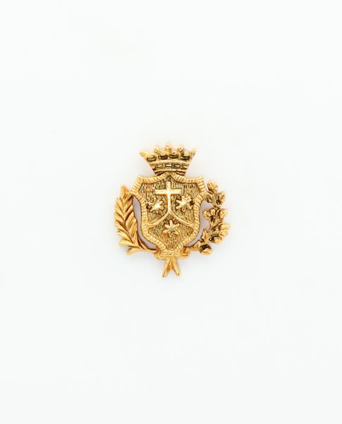"""HERALDRY RELIEVE religious insignia """"COAT WITH PALMS AND LAUREL CARMELITA 22 MM HEIGHT"""""""