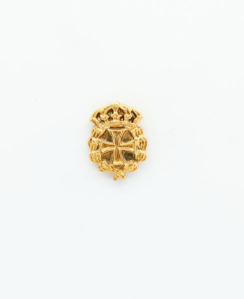 """HERALDRY RELIEVE religious insignia """"Maltese Cross edged and stamped with royal crown 18 mm Height"""""""