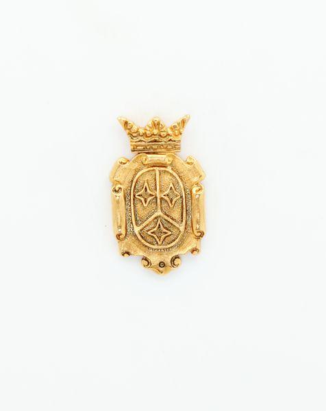 "HERALDRY RELIEVE religious insignia ""SHIELD GUSSET CARMELITA 28 mm"""