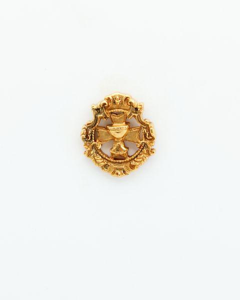 "HERALDRY RELIEVE religious insignia ""GOBLET OF MALTESE CROSS Ornate 23 MM HEIGHT"""