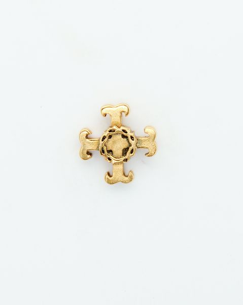 """HERALDRY RELIEVE religious insignia """"trefoil CROSS WITH THORNS CROWN HEIGHT 20 MM"""""""