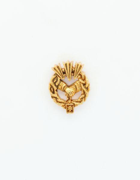 "HERALDRY RELIEVE religious insignia ""JESUS REDEEMER 24 MM HEIGHT CAPTIVE"""