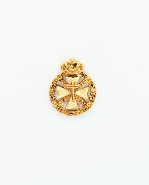"""HERALDRY RELIEVE religious insignia """"AMERICA ON CROSS MALTESE CROSS AND SCALES WITH TOISON edged 24 MM HEIGHT"""""""