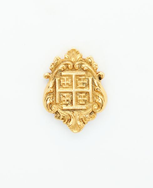 """HERALDRY RELIEVE religious insignia """"Holy Cross in Jerusalem flowered 34 MM HEIGHT"""""""