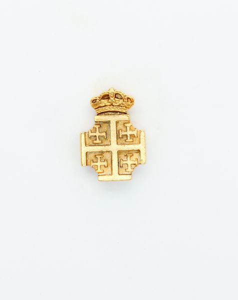 """HERALDRY RELIEVE religious insignia """"Jerusalem Cross silhouetted and stamped 24 MM HEIGHT"""""""