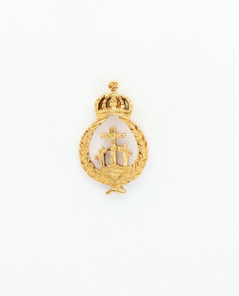 """HERALDRY RELIEVE religious insignia """"HEIGHT 24 MM MOUNT CALVARY"""""""