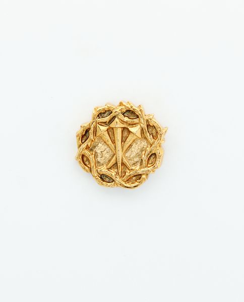 """HERALDRY RELIEVE religious insignia """"NAILS OF CHRIST WITH CROWN OF THORNS without stalling 26 MM HEIGHT"""""""