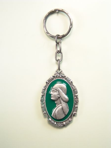 "RELIGIOUS KEYCHAINS RELIEVE brethren ""Costalero about Orla BARTOLOME one colored enamel"""