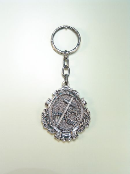 "RELIGIOUS KEYCHAINS HERLDICOS RELIEVE ""ATTRIBUTES edged passion"""