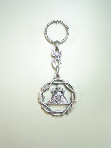 "RELIGIOUS KEYCHAINS HERLDICOS RELIEVE ""LIRA ON MOUNT CALVARY AND CROWN OF THORNS"""