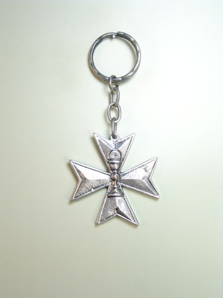 "RELIGIOUS KEYCHAINS HERLDICOS RELIEVE ""Holy Eucharist MALTESE CROSS ON"""