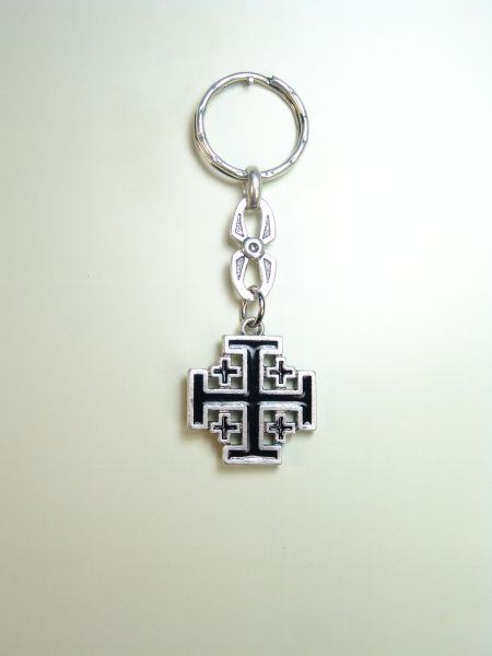 "RELIGIOUS KEYCHAINS HERLDICOS RELIEVE ""HOLY CROSS ENAMELED GRAVE"""