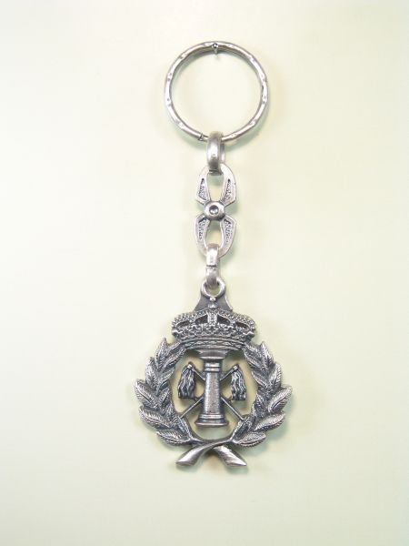 "RELIGIOUS KEYCHAINS HERLDICOS RELIEVE ""COLUMN strokes fringed with palms and flagella ROYAL CROWN"""