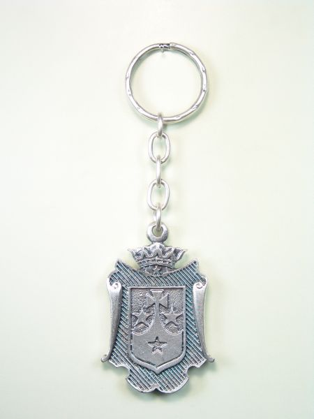 "RELIGIOUS KEYCHAINS HERLDICOS RELIEVE ""shield bordered CARMELITA"""