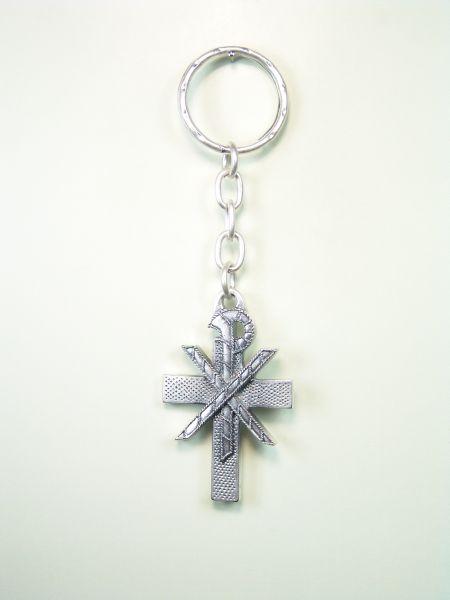 """RELIGIOUS KEYCHAINS HERLDICOS RELIEVE """"Crismon symbol of Christ"""""""