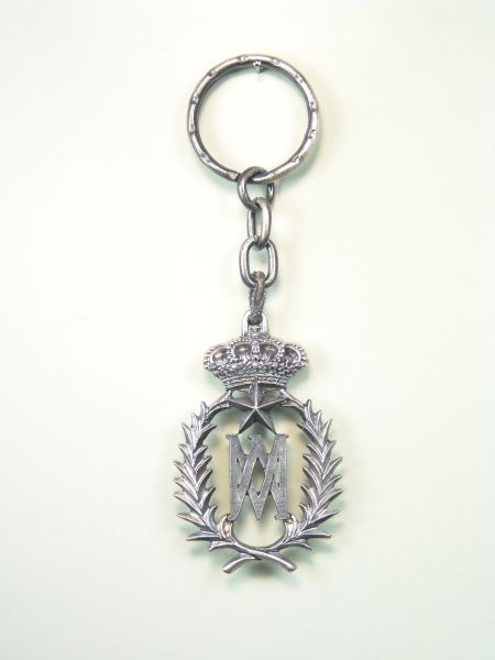 "RELIGIOUS KEYCHAINS HERLDICOS RELIEVE ""AVE MARIA ESTRELLA SURROUNDED WITH PALMS"""