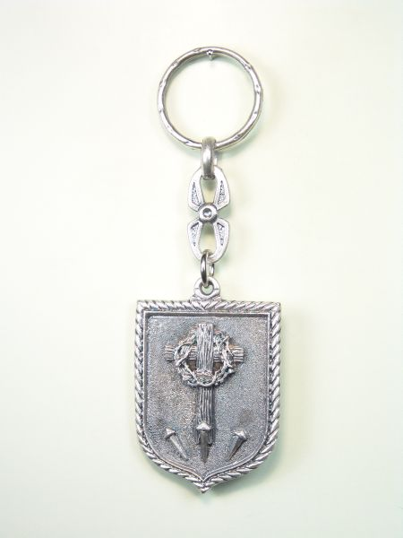 "RELIGIOUS KEYCHAINS HERLDICOS RELIEVE ""ELEMENTS OF PASSION ORLA GUSSET"""