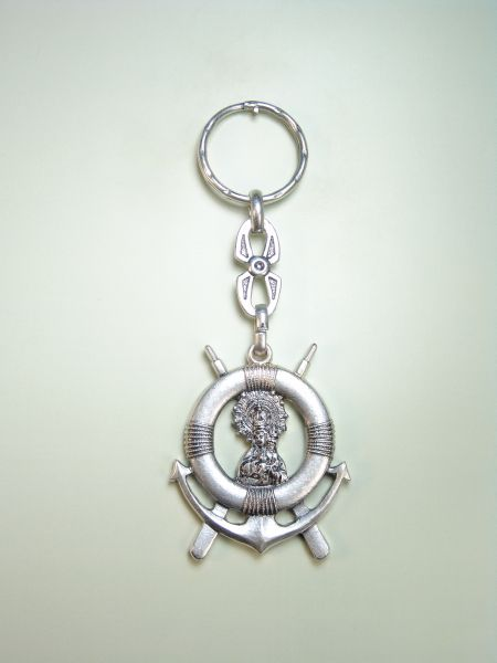 "RELIGIOUS KEYCHAINS images RELIEVE ""Virgen del Carmen MARINERA"""