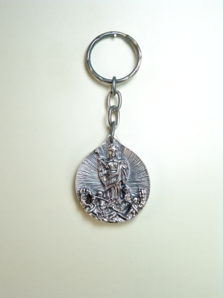 "RELIGIOUS KEYCHAINS images RELIEVE ""San Rafael Archangel"""