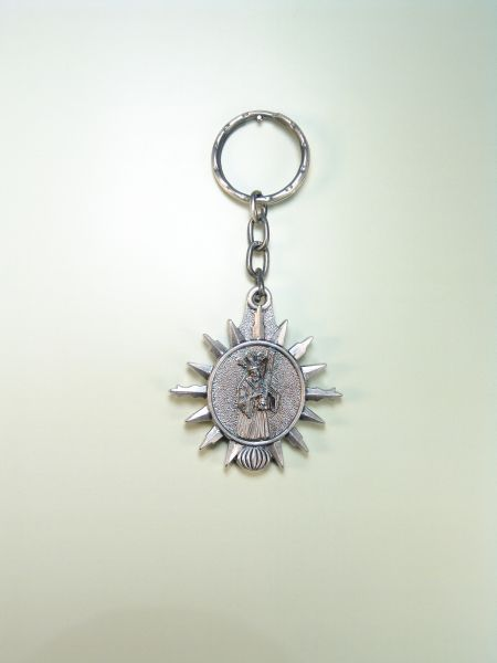 "RELIGIOUS KEYCHAINS images RELIEVE ""JESUS ​​OF NAZARETH ORLA STAR"""