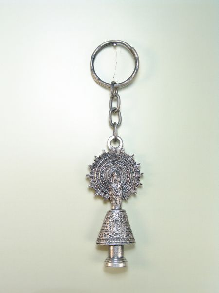 "RELIGIOUS KEYCHAINS images RELIEVE ""Virgen del Pilar CORPREO"""
