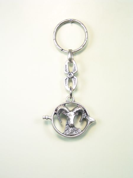 """SOUVENIRS KEYCHAIN hunts """"fringed mountain goat"""""""