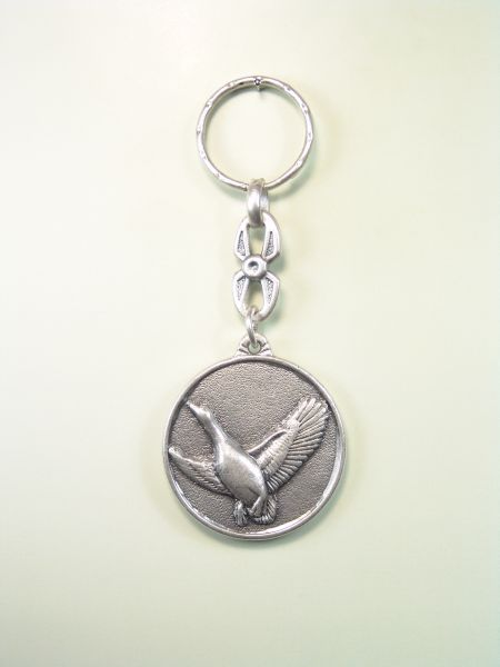 """SOUVENIRS KEYCHAIN hunts """"geese EVERGLADES ON THE CIRCULAR ORLA"""""""