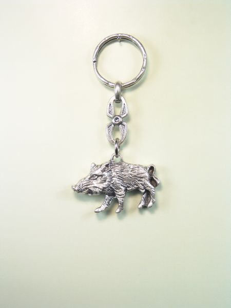 """SOUVENIRS KEYCHAIN hunts """"pig BOAR RELIEVE SILHOUETTE"""""""