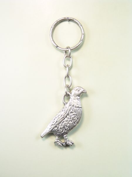 """SOUVENIRS KEYCHAIN hunts """"RELIEVE silhouetted PARTRIDGE"""""""