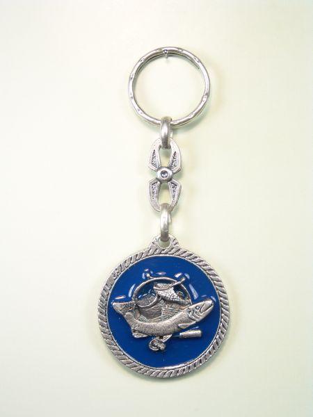 "SOUVENIRS KEYCHAIN hunts ""I am fond of ORLA FISHING WITH 1 CIRCULAR CORDON colored enamel"""