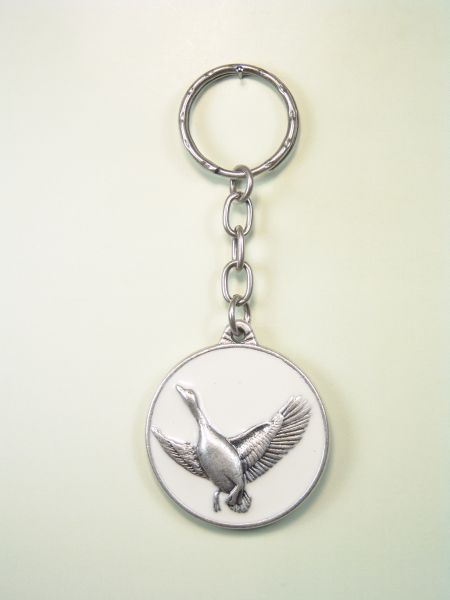 """SOUVENIRS KEYCHAIN hunts """"geese EVERGLADES ON THE CIRCULAR WITH 1 ORLA colored enamel"""""""