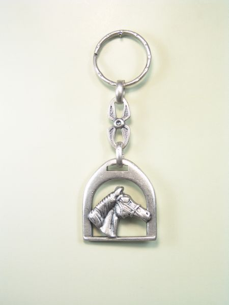 "EQUESTRIAN KEY SOUVENIRS ""BRACKET ENGLISH HORSE WITH NO HEAD harness"""
