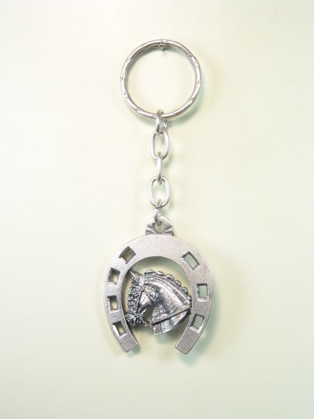 "EQUESTRIAN KEY SOUVENIRS ""HORSESHOE HORSE HEAD harnessed"""