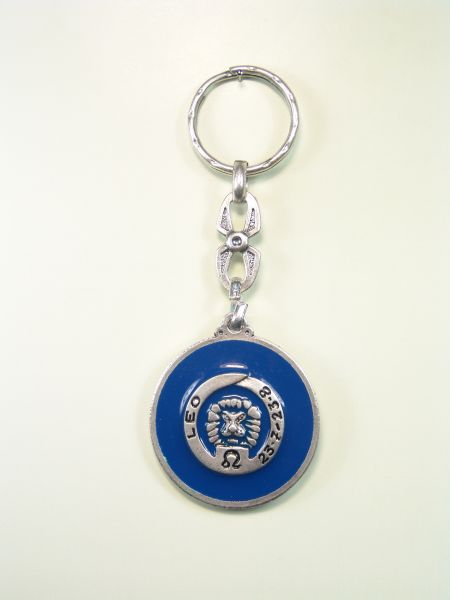 "SOUVENIRS KEYCHAIN ​​HOROSCOPES AND INITIALS ""LEO CIRCULAR 1 colored enamel"""