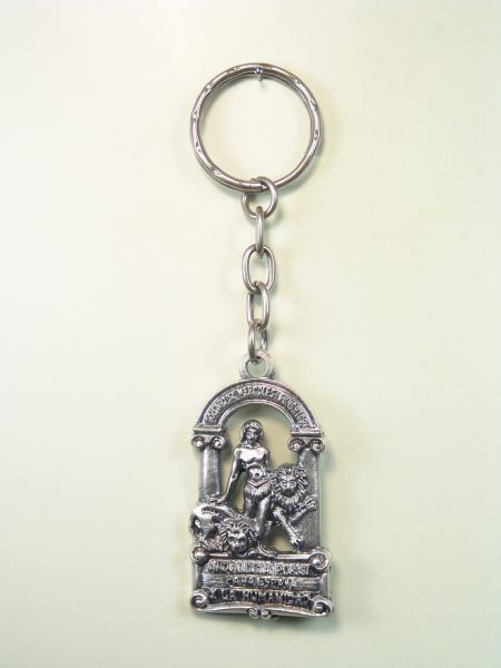 """SOUVENIRS KEYCHAIN MONUMENTAL """"ANDALUCIA RELIEF SHIELD"""""""