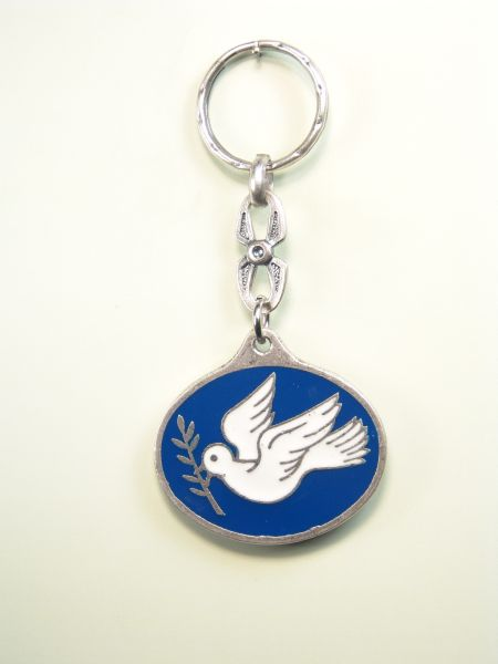 "SEVERAL KEY SOUVENIRS ""DOVE OF PEACE enamels PICASIANA 2 COLOR"""