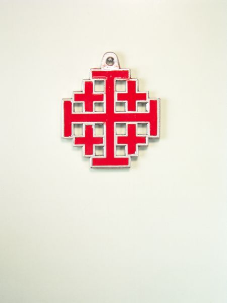"RELIGIOUS MEDALS ENAMEL COLOR ""Holy Cross in Jerusalem-COLOUR GRAVURE silhouetted"""