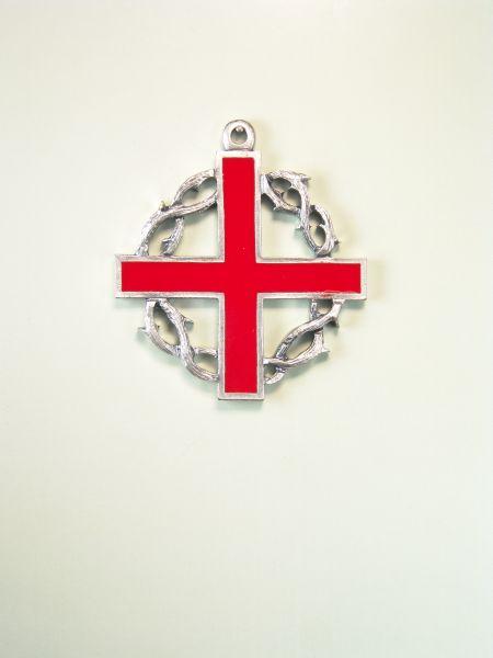 "RELIGIOUS MEDALS ENAMEL COLOR ""SANTA CRUZ Greek ORLA CROWN OF THORNS TO COLOR"""