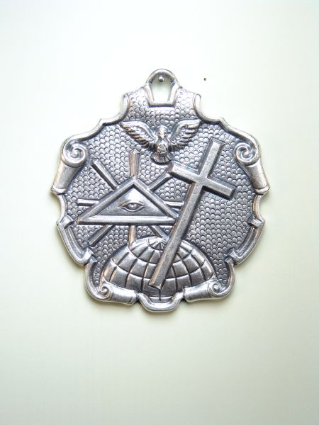 """HERLDICAS religious medals RELIEVE """"GOD FATHER Holy Trinity, God the Son and Holy Spirit 70 MM"""""""
