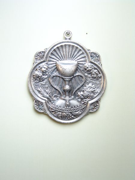 "HERLDICAS religious medals RELIEVE ""SANTSIMA TAMBOURINE 60 MM MOD Eucharist"""