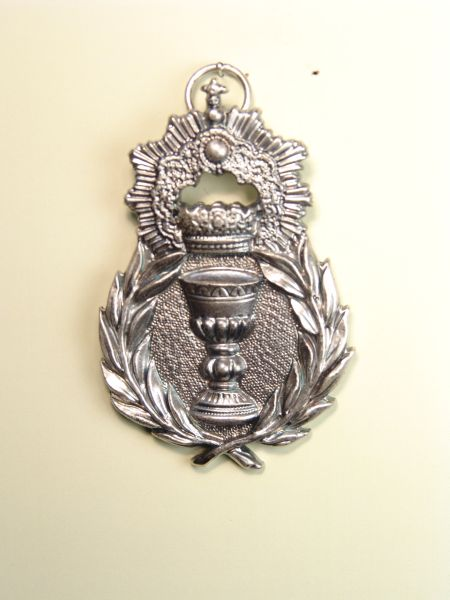 """HERLDICAS religious medals RELIEVE """"CHALICE OF PALMS CORONADO fringed 70 MM"""""""