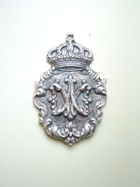 """HERLDICAS religious medals RELIEVE """"AVE MARIA 70 MM chiseled"""""""