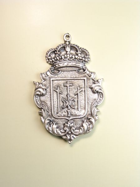 """HERLDICAS religious medals RELIEVE """"AVE MARIA ON MOUNT CALVARY 70 MM"""""""