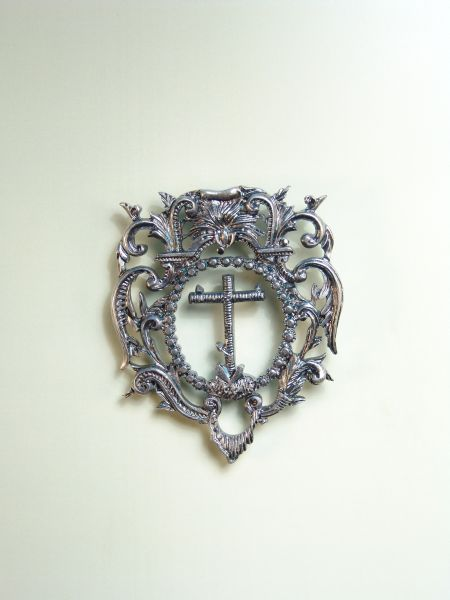 """HERLDICAS religious medals RELIEVE """"Latin cross ORLA CALADA 60 MM"""""""