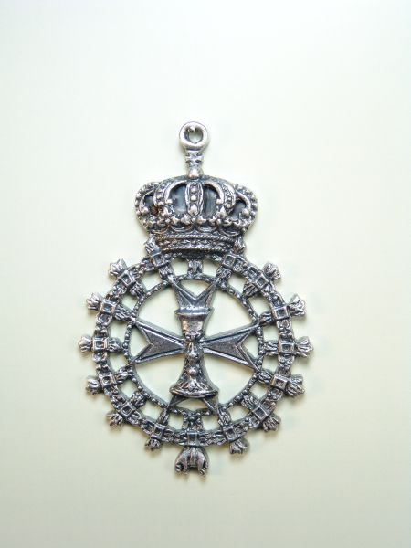"""HERLDICAS religious medals RELIEVE """"chalice ON MALTA CROSS REAL TOISON bordered by 80 MM"""""""